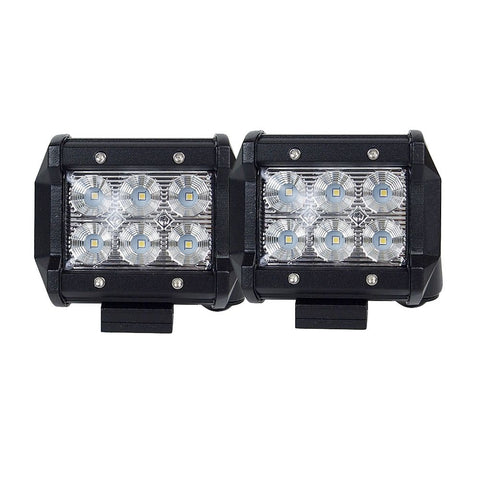 Pair 4inch CREE LED Work Light Bar Flood Beam Offroad Driving Lamp Reverse Fog