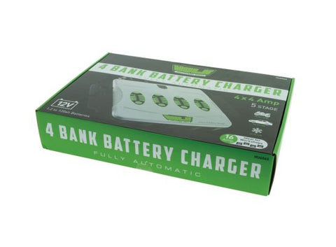 HULK 4 BANK 5 STAGE FULLY AUTOMATIC BATTERY CHARGER - 4 X 4 AMP 12V