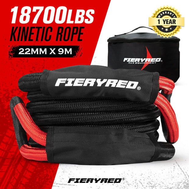 FIERYRED 22mm x 9m Kinetic Rope 18700LBS