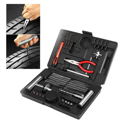 Tyre Repair Kit 67 pcs Emergency Tools Set Car Truck Trailers Motorcycle Bike