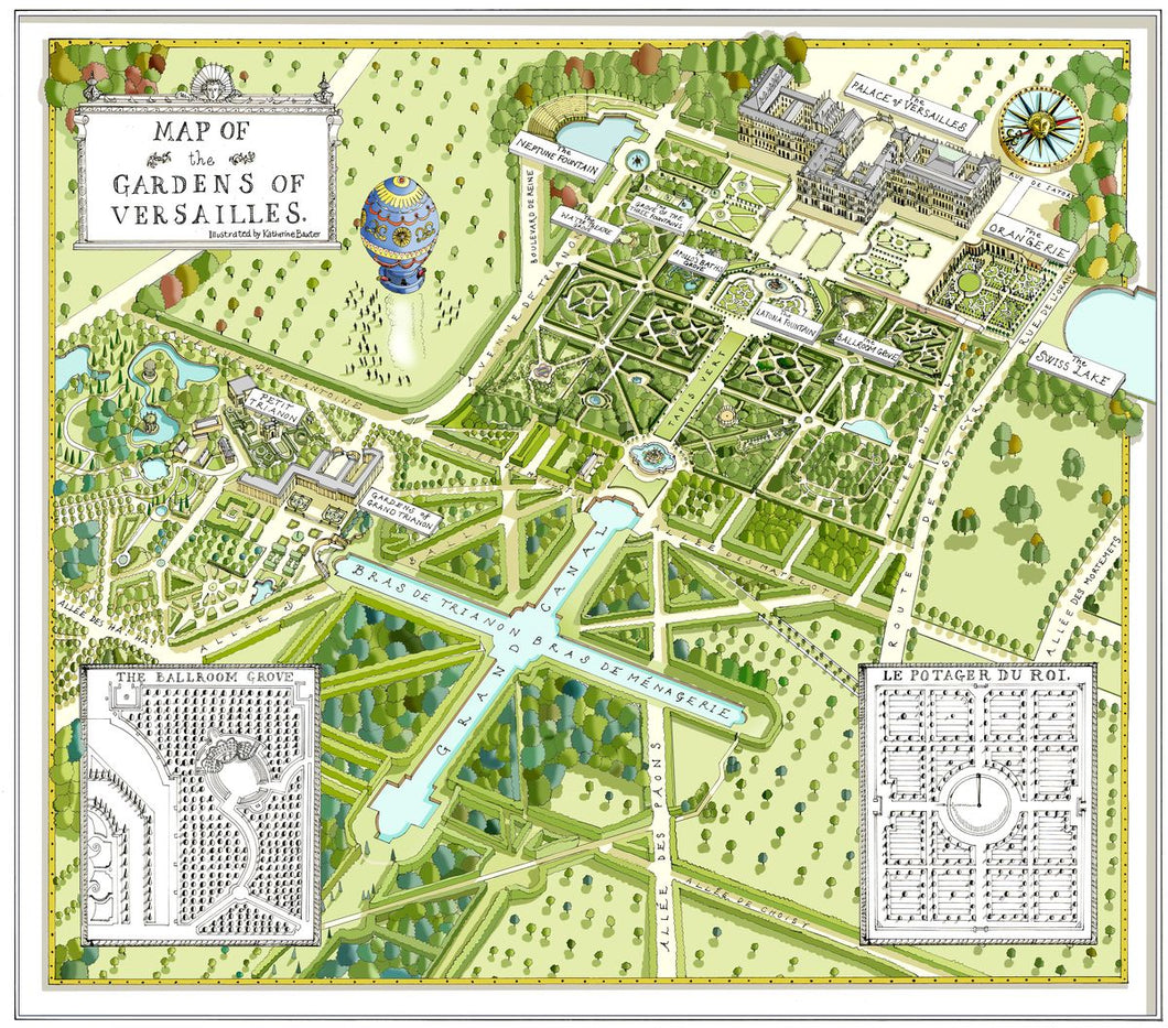 Map of Versailles