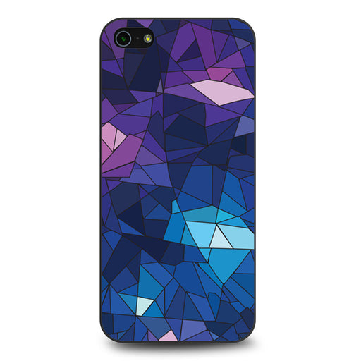 With Blue Glass Design iPhone 5 5s SE case