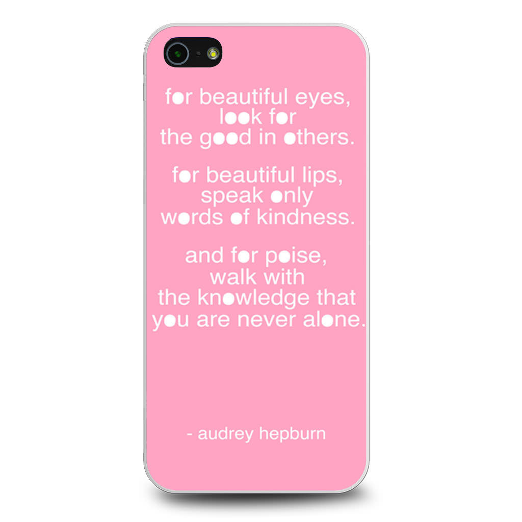 Audrey Hepburn Quote Pink Eye iPhone 5/5s/SE case