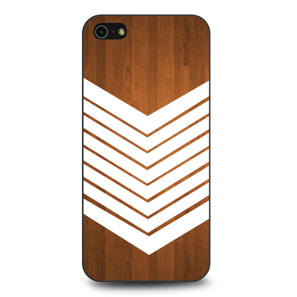 Arrow Teal Wood White iPhone 5 5s SE case