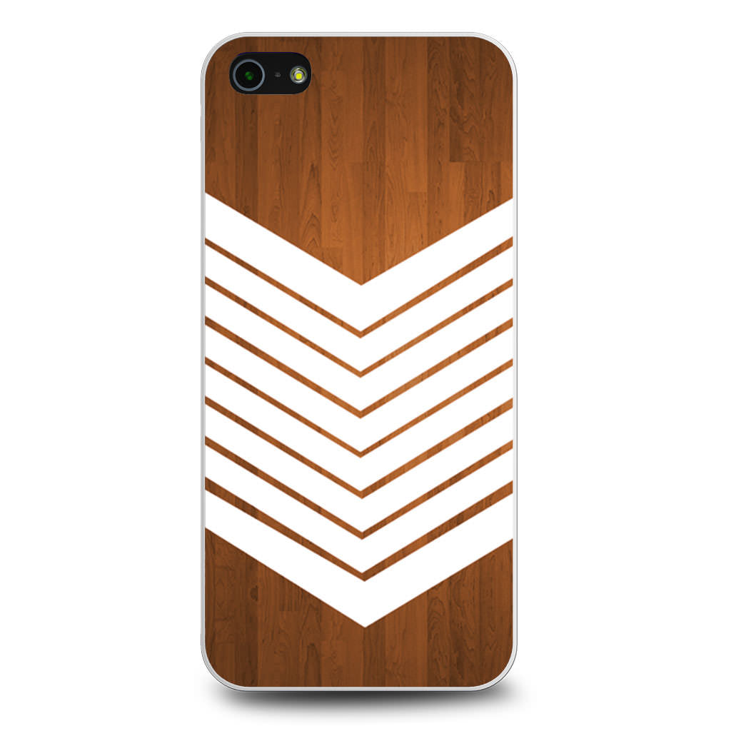 Arrow Teal Wood White iPhone 5/5s/SE case