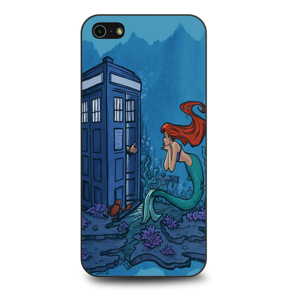 Ariel Mermaid Tardis iPhone 5 5s SE case