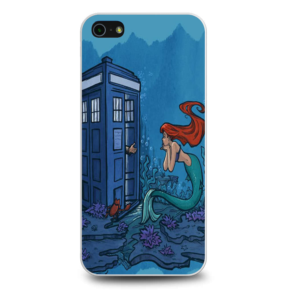 Ariel Mermaid Tardis iPhone 5/5s/SE case