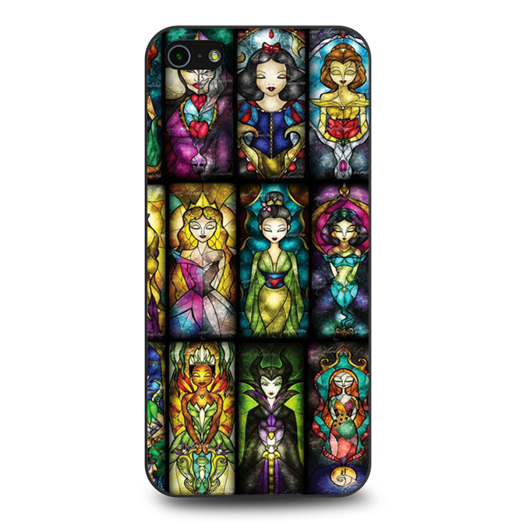 All Princess Disney Stained Glass iPhone 5 5s SE case