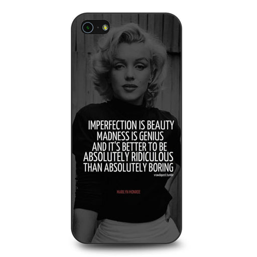 Marilyn Monroe Quotes iPhone 5 5s SE case
