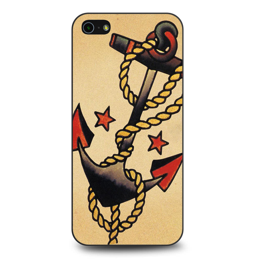 Anchor Tattoo Style Sailor Pirate iPhone 5 5s SE case