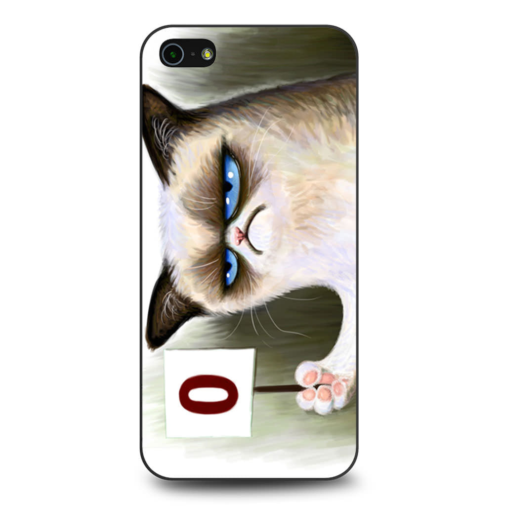 Angry Grumpy Cat iPhone 5 5s SE case