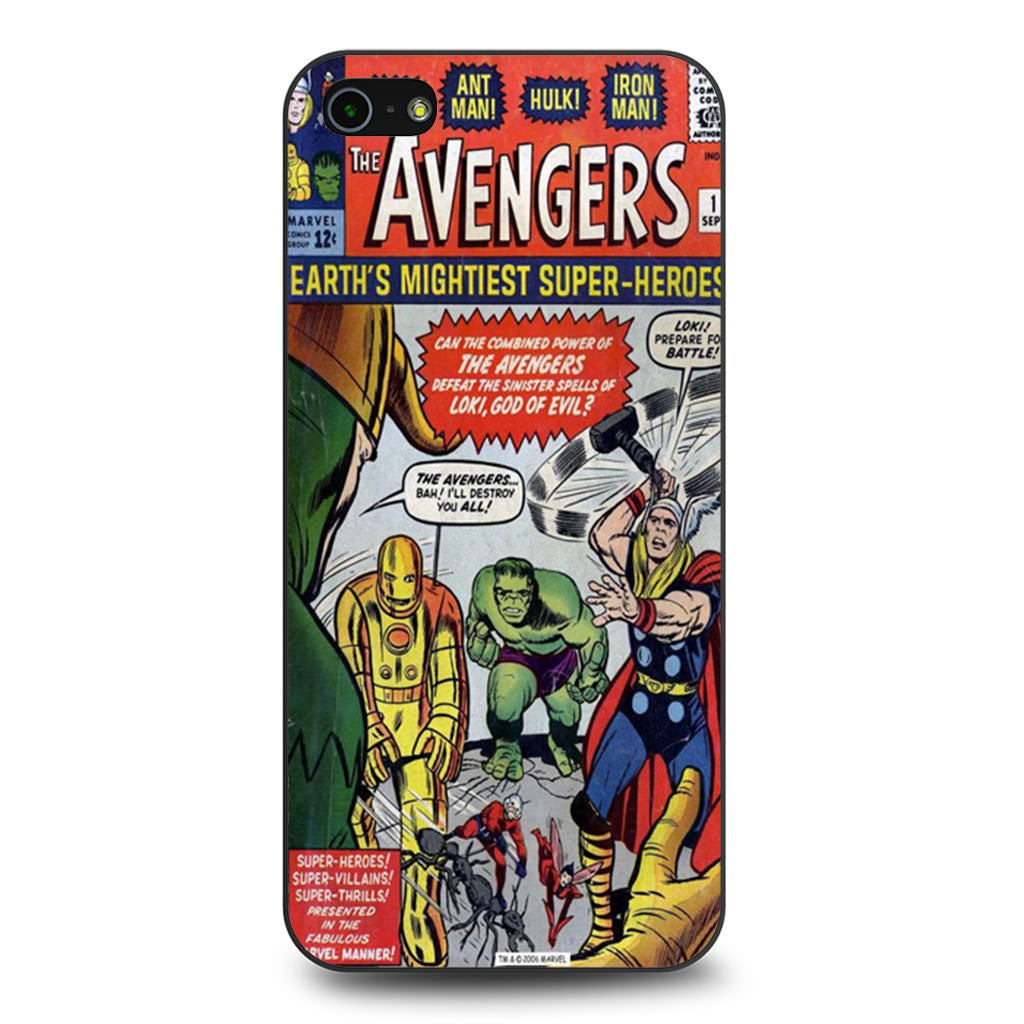Avengers Comic iPhone 5 5s SE case