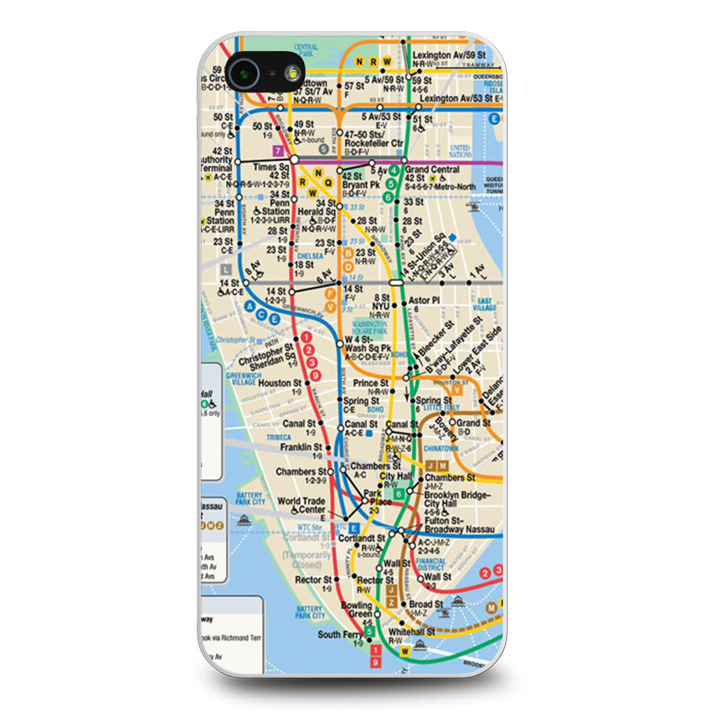 Persona 5 Subway Map.Nyc Subway Map Iphone 5 5s Se Case Case Persona
