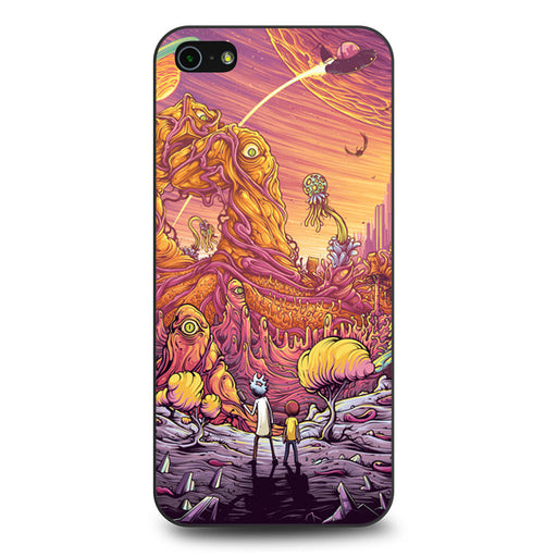 Rick and Morty Psychedelic iPhone 5 5s SE case