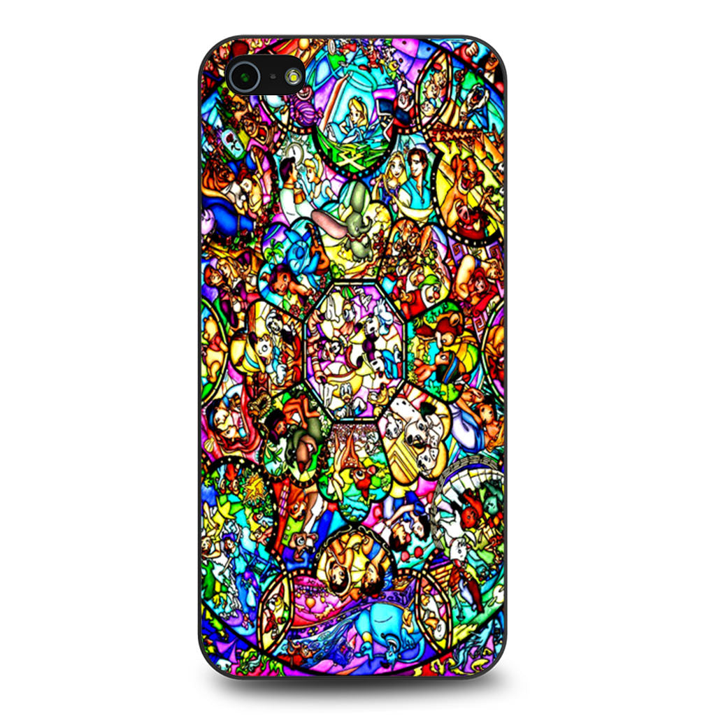 All Characters Disney Stained Glass iPhone 5 5s SE case