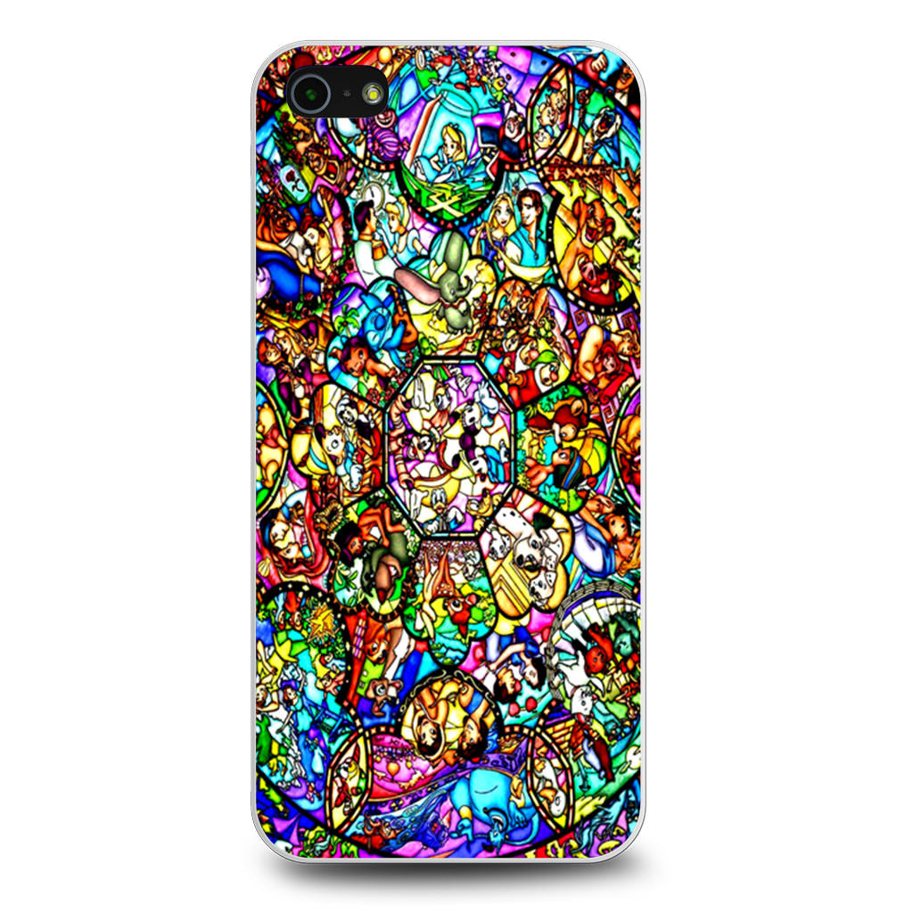 All Characters Disney Stained Glass iPhone 5/5s/SE case