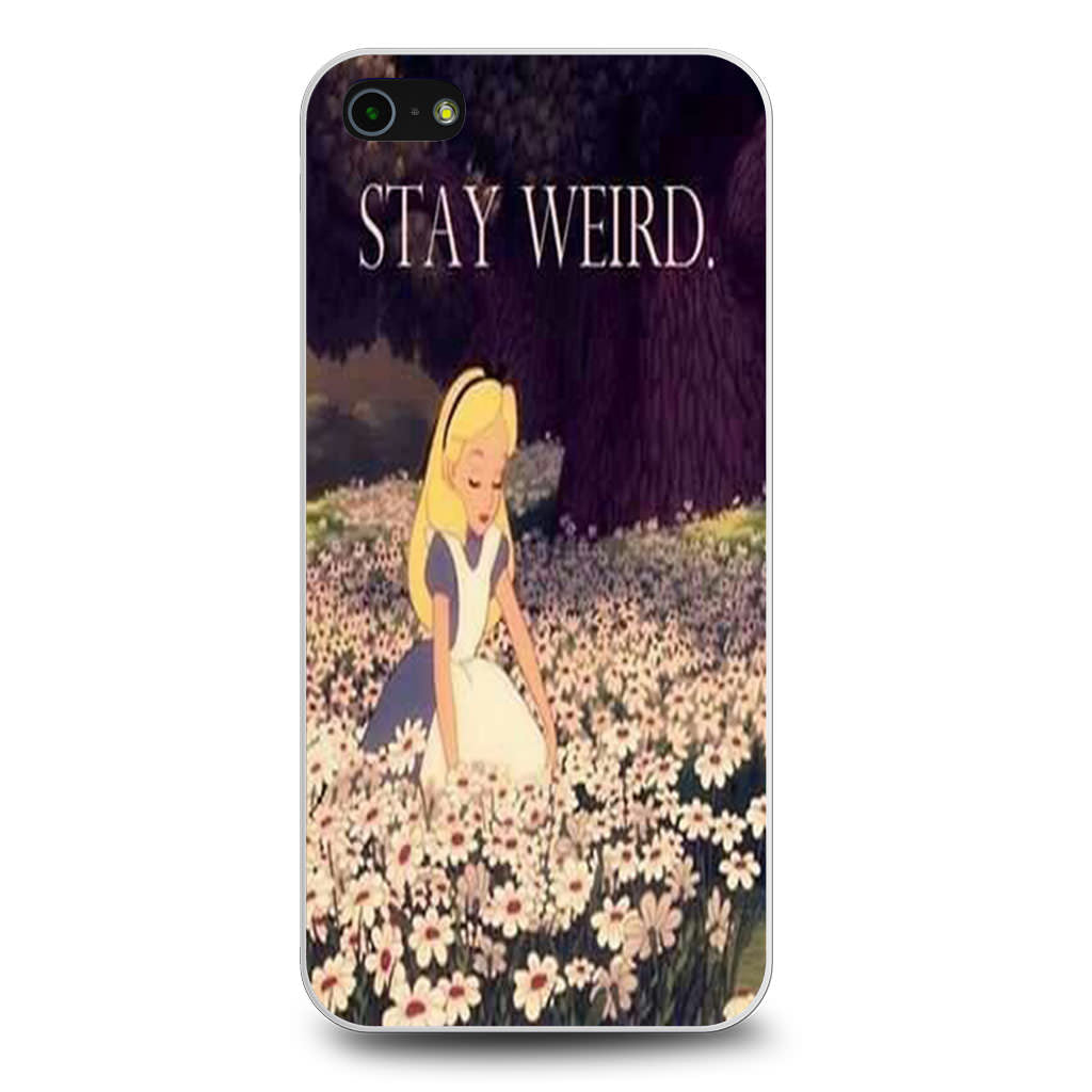 Alice in Wonderland Stay Weird iPhone 5/5s/SE case