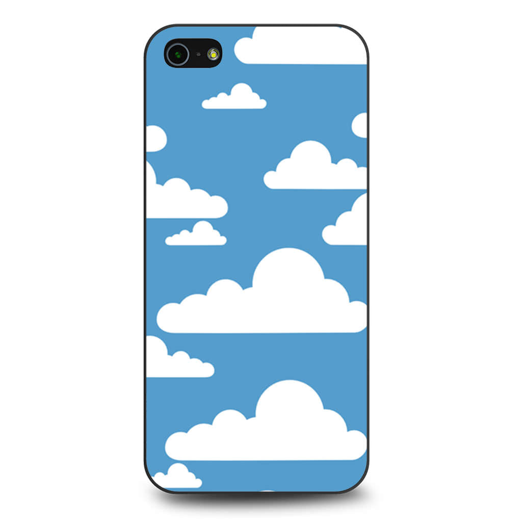 Abstract Blue Sky White Cloud iPhone 5 5s SE case