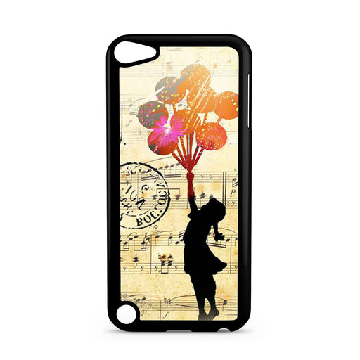 Banksy Balloon Girl Music Sheet iPod Touch 5 case