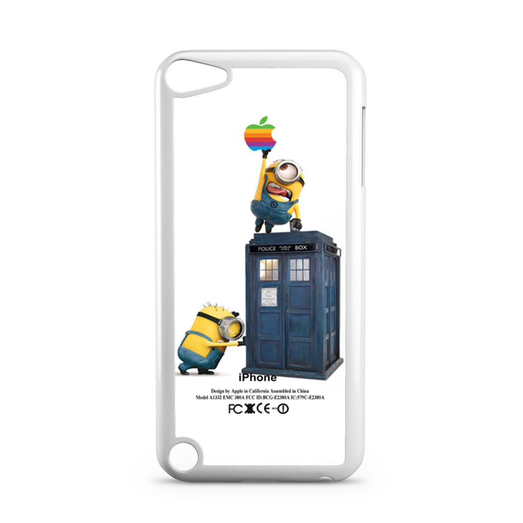 Despicable Me Minion Catch Apple Logo In Dr Who Tardis Ipod Touch 5