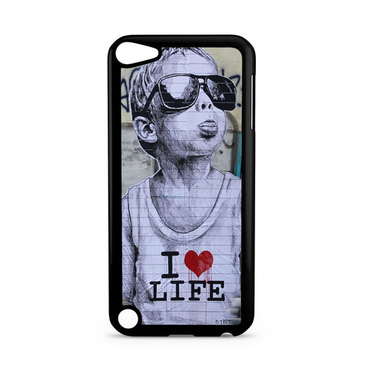 Banksy I Love my life iPod Touch 5 case