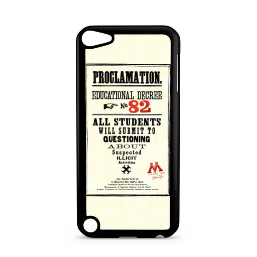 Harry Potter Proclamation Educational Decree No. 82 iPod Touch 5 case