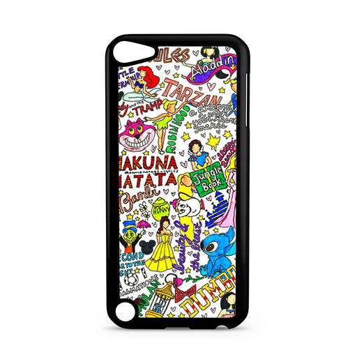 All Disney Princesses Collage iPod Touch 5 case