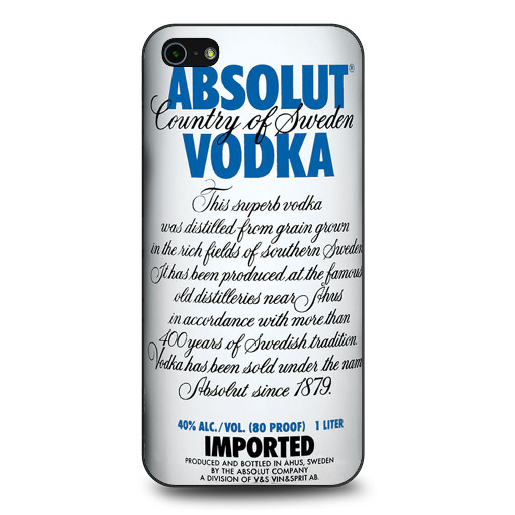 Absolut Vodka iPhone 5 5s SE case