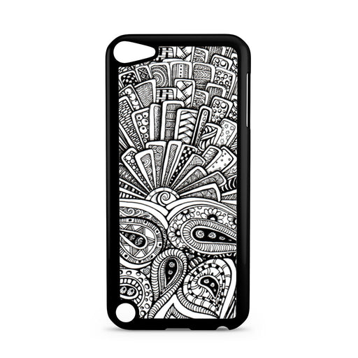 Zentangle Monogram iPod Touch 5 case