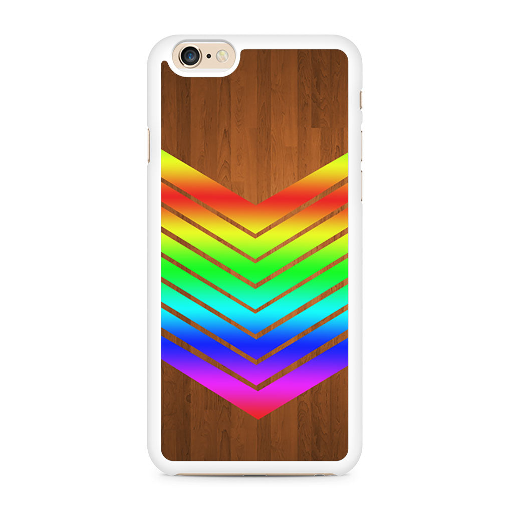 Arrow Teal Wood Rainbow iPhone 6/6s case