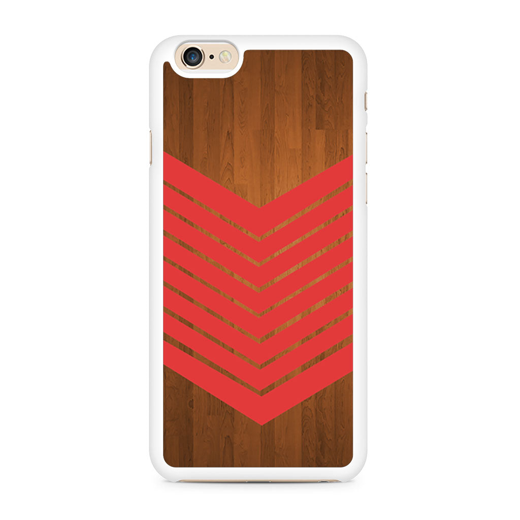 Arrow Teal Wood Red iPhone 6/6s case