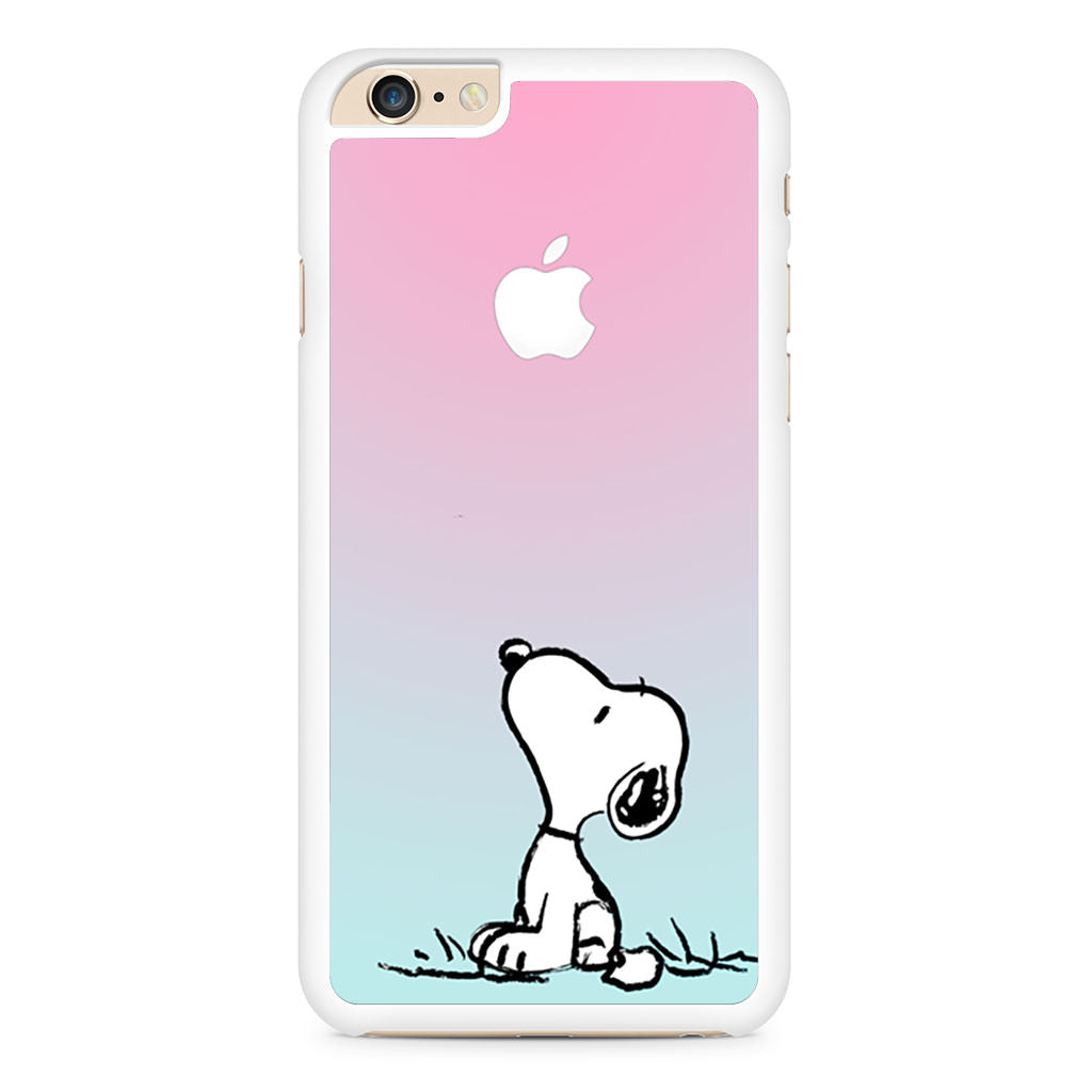 check out 173a9 f0472 Snoopy Gradient Pink Mint Custome Apple Logo iPhone 6 Plus / 6s Plus case