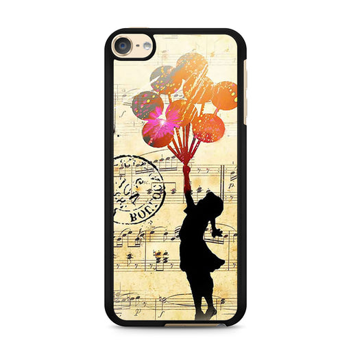 Banksy Balloon Girl Music Sheet iPod Touch 6 case