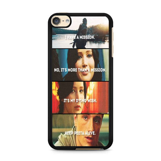 The Hunger Games Quotes Mockingjay iPod Touch 6 case
