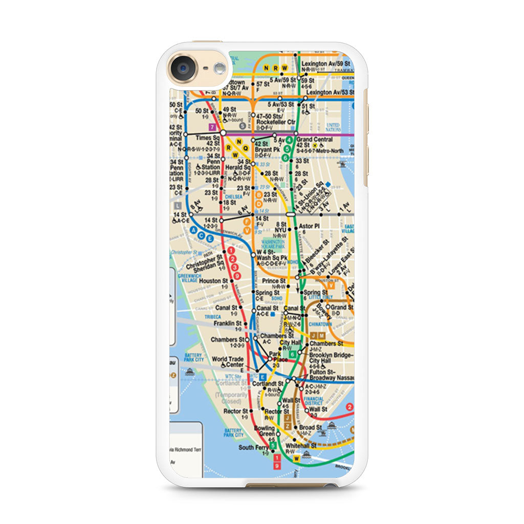 Nyc Subway Map Ipod Touch 6 Case Case Persona