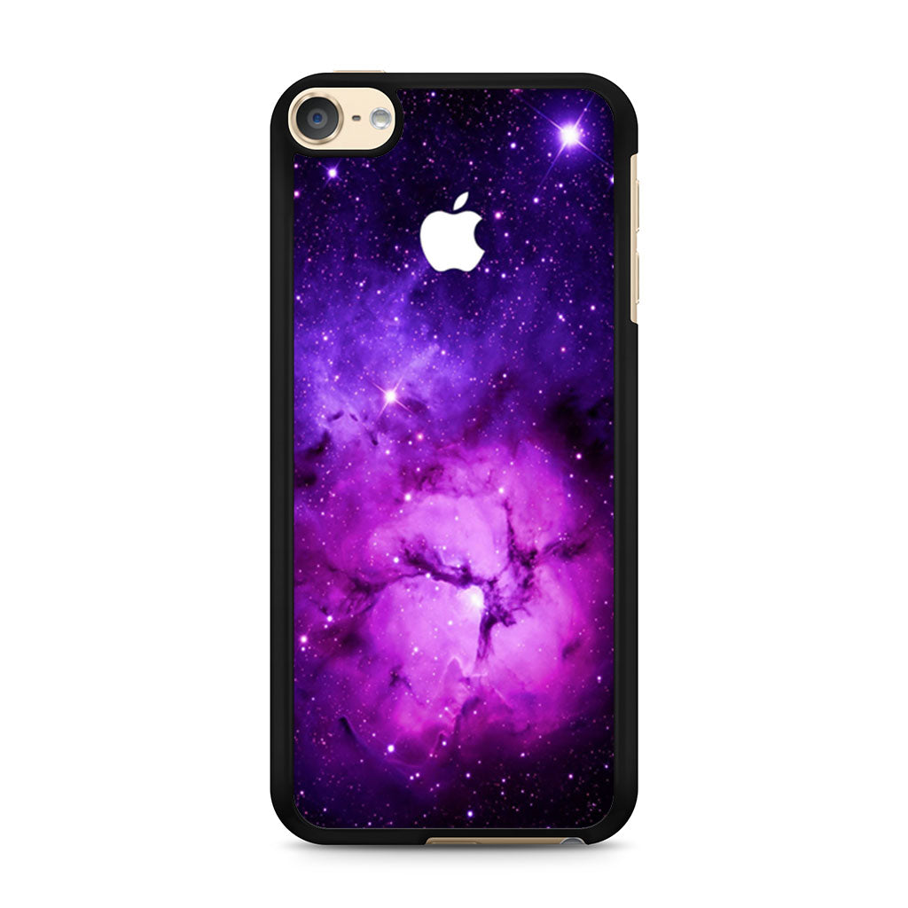 online retailer d29d9 870a8 Purple Galaxy Nebula with apple logo iPod Touch 6 case
