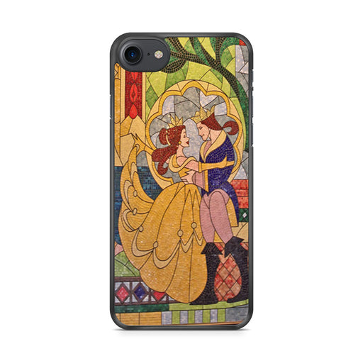 Prince Beast And Belle Stained Glass iPhone 7 case