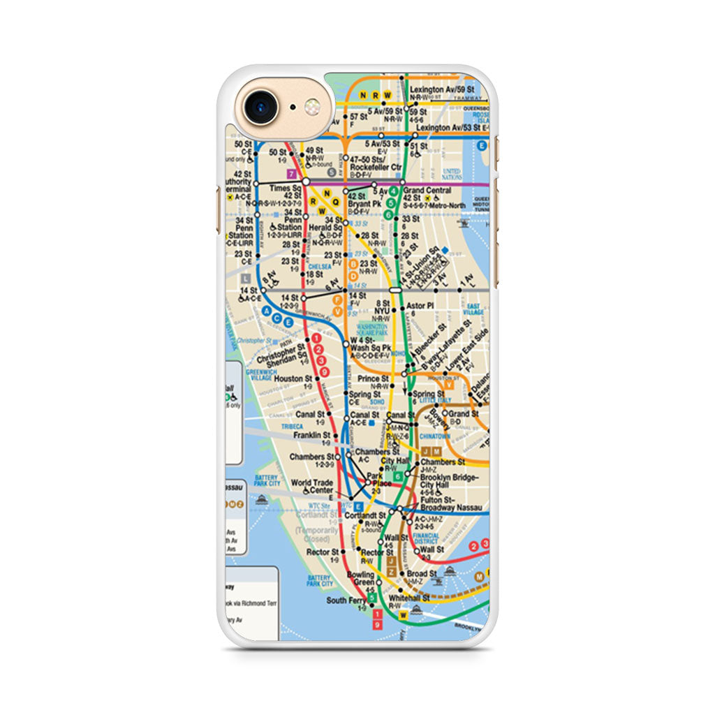Nyc Subway Map Iphone 5 Case.Nyc Subway Map Iphone 7 Case