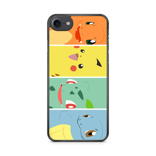 Pokemon Charmander Pikachu Bulbasaur Squirtle iPhone 7 case