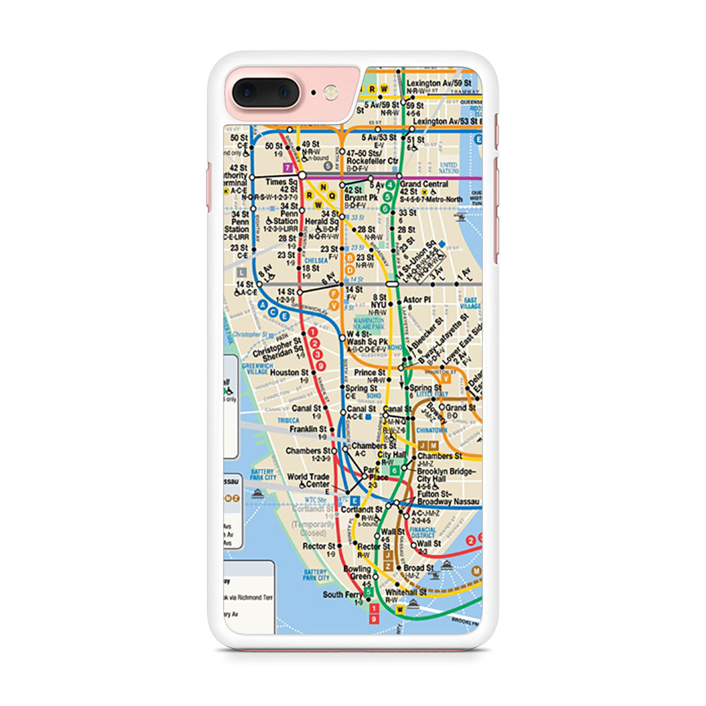 Portable Nyc Subway Map.Nyc Subway Map Iphone 7 Plus Case