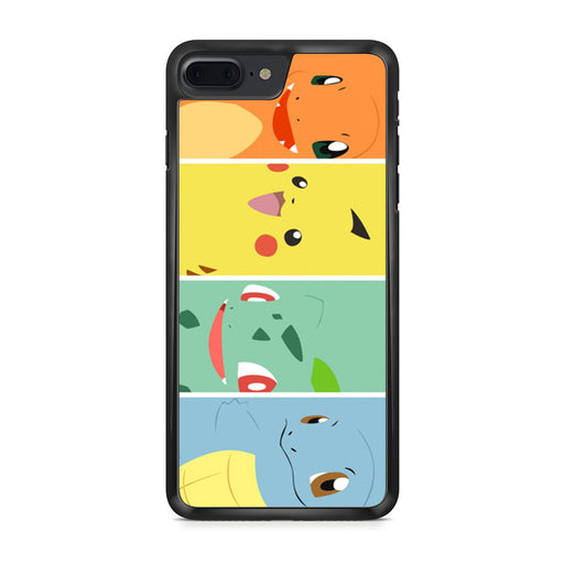 Pokemon Charmander Pikachu Bulbasaur Squirtle iPhone 7 Plus case