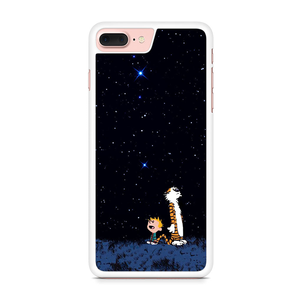 Calvin And Hobbes Looking The Stars iphone case