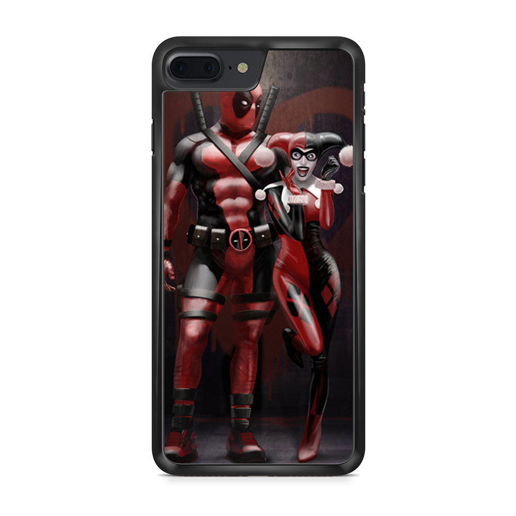timeless design 8c7d2 825dd Harley Quinn and Deadpool iPhone 7 Plus case