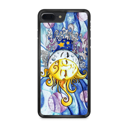 Sun and Moon Art Painting Cute Sky Tumblr iPhone 7 Plus case