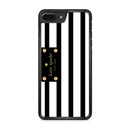 Kate Spade Stripes Black White iPhone 7 Plus case