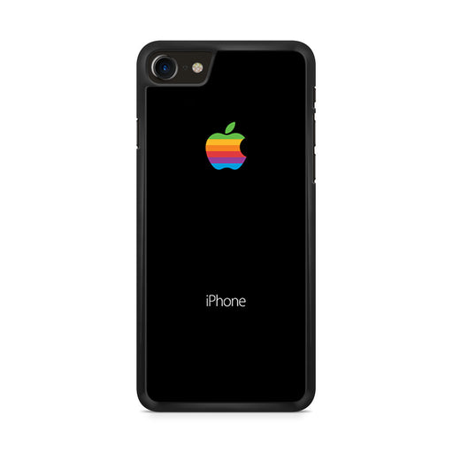 Black With Rainbow Apple Logo iPhone 8 case