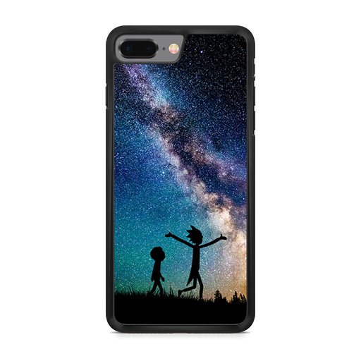 Rick and Morty Silhouette Nebula iPhone 8 Plus case