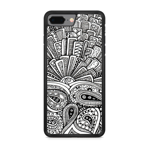 Zentangle Monogram iPhone 8 Plus case