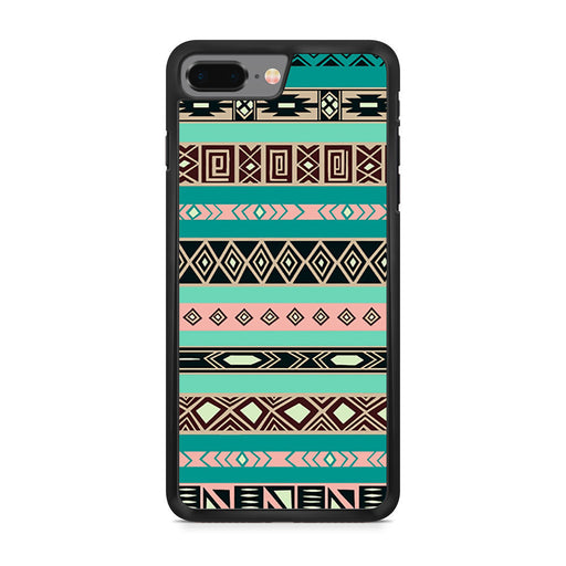 Aztec Blue Tribal Pattern iPhone 8 Plus case