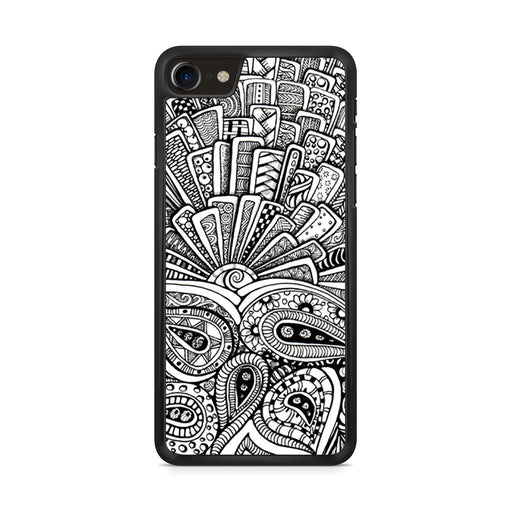 Zentangle Monogram iPhone 8 case